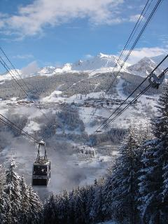 The Vanoise Express cable car to Les Arcs, just one lift away from our chalet