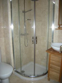Downstairs shower room.