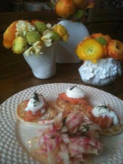Home-cooked meal: Salmon and chioggia