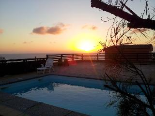 sunrise at the swimming pool