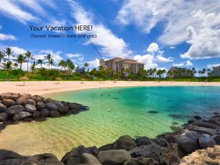BEACH TOWER @ Beach Villas! Sunset & Ocean views, Kapolei