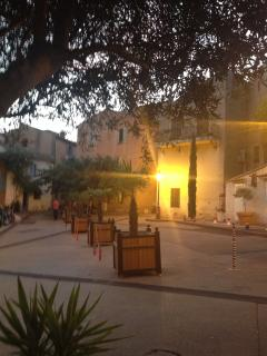 Beautiful square in Frejus.