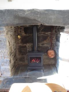 Beautiful inglenook with user-friendly, gas-fired stove