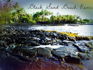 Historic Black Sand Beach, the first landfall  of Polynesian colonists