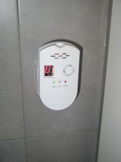 Detector CO en baño