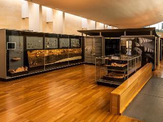 Intérieur du musée de Préhistoire, exceptionnel, des Eyzies-de-Tayac.