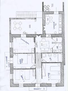 Floor plan of the Villa