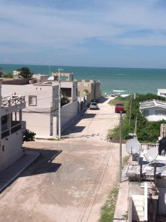 Roof top view of the Gulf of Mexico, 100 meters walking