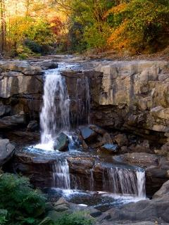 waterfall park on the Preserve