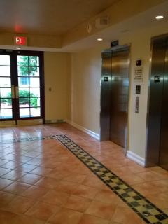 Building entrance hallway