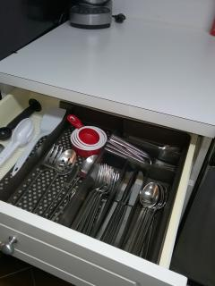 Kitchen drawer contents