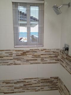 Bathroom 2 with ocean views and large skylight