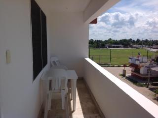 Balcony space for your apartment, overlooking the baseball field