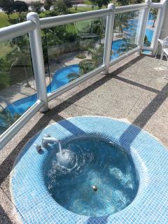 One of a kind balcony bath tub with hot and cold running water.  U R WORTHY!