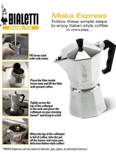 In addition to standard coffeee maker, apt. has also this original Bialetti coffee maker from Italy