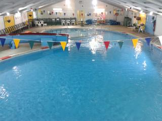 Holiday bungalow, St Ives,  Indoor heated Swimming Pool
