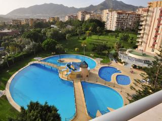 Swimming pools at the complex and view from the Studio
