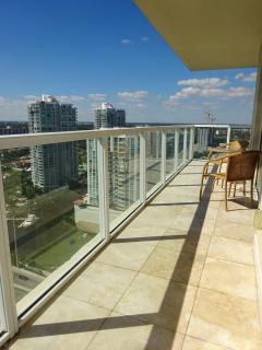 Large wraparound balcony
