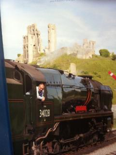 Steam Train at Corfe Castle