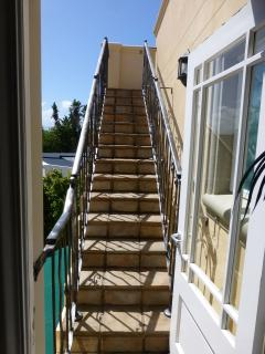 Stairs leading to the 3rd level sun deck