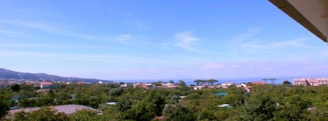 Panorama de toute la côte de Sorrente de finestr toute la paroi du studio
