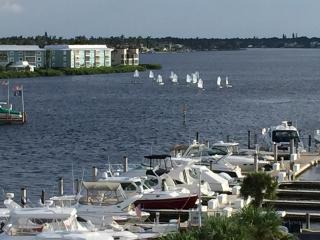 Spectacular waterfront views down Naples Bay!