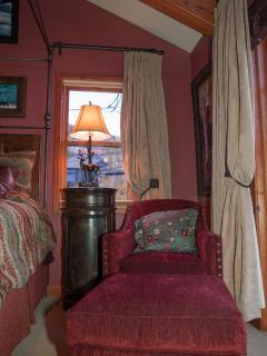 Cozy corners with reading and enjoying the views of Main Street