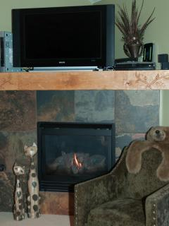 Enjoy the warmth by the Fireplace and enjoy the view of Park City's Historic Main Street