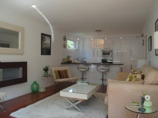 spacious open plan living room and kitchen