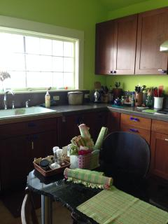 This is just a peek at the spacious kitchen