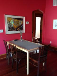 Additional seating in dining room