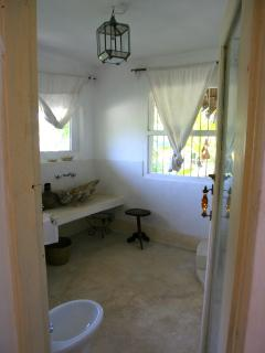 Bathroom of blue bedroom (double)