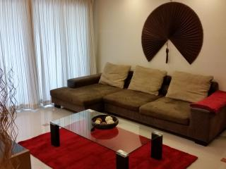 L shaped sofa and coffee table