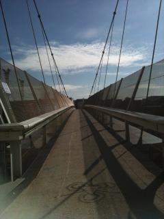 foot bridge to station