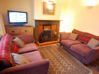 Cosy lounge with real fire - great for relaxing in front of on a cool evening