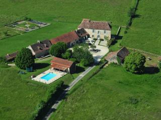 The Farmhouse at Rigal is set in 100 glorious organic acres of farmland and woodland with pool