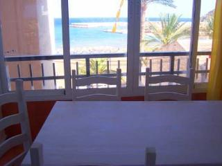 Enclosed balcony dining area
