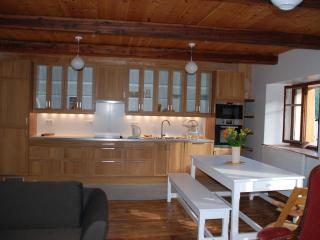 Salle à manger et cuisine intégrée - Dining room and integrated kitchen