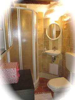 ensuite bathroom in basement bedroom only accessed from outside