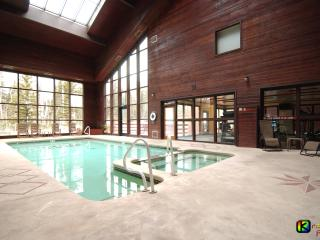 Solarium pool/Jacuzzi with adjacent fitness center
