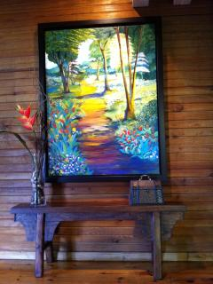 Our decor shows paintings from local artist