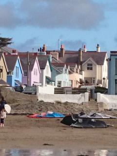 We love the rows of coloured houses along the beach