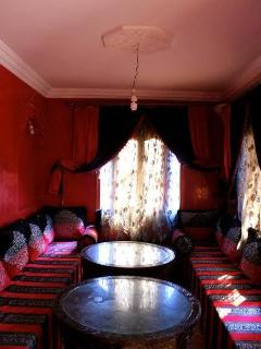 Traditional Moroccan lounge