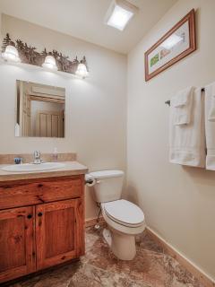 1/2 bathroom, upper floor