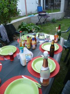 Le jardin avec barbecue
