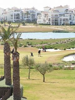 Golfing on the resort.