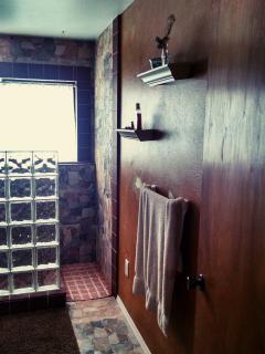 Glass walk-in shower