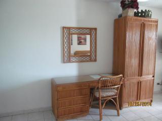 Rattan desk and dresser set
