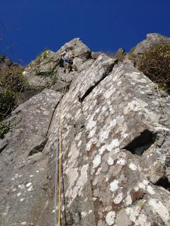 Rock climbing - Bramble buttress, Tremadog