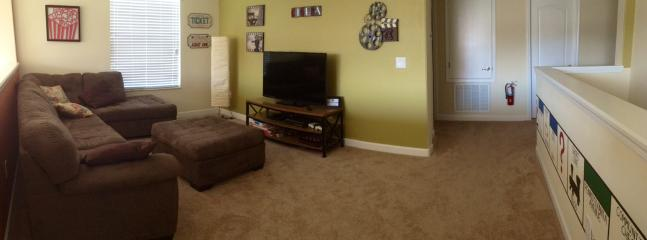 Game room 52' flat screen Smart TV, BluRay, Xbox 360, and board games